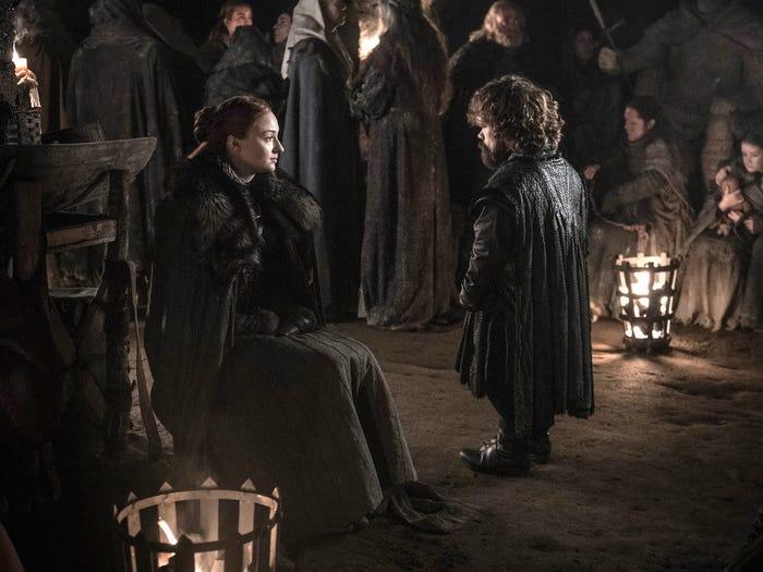 Sansa dalam adegan Game of Thrones